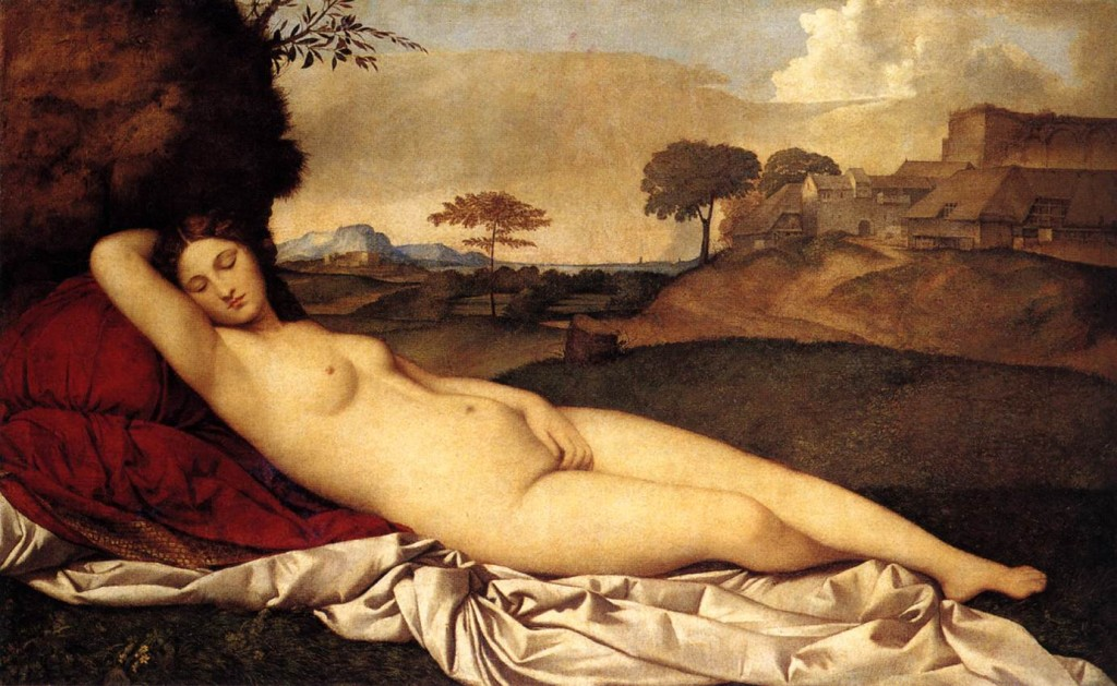 Sleeping Venus, nude by Giorgione