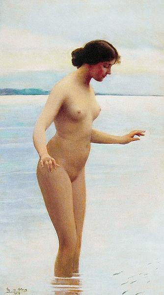 In The Water, by Eugen von Blaas 1914